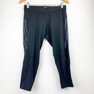 Adidas Cropped Leggings Black Athletic Pants M